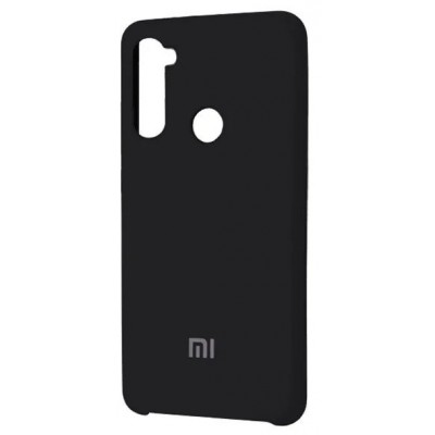 Накладка Silicone Cover для Xiaomi Redmi Note 8 Silky&Soft Touch Black