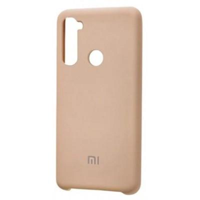 Накладка Silicone Cover для Xiaomi Redmi Note 8 Silky&Soft Touch Pink Sand