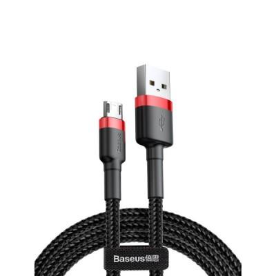 Кабель Micro USB Baseus CAMKLF-C91 (1.5A, 2m) Red-Black