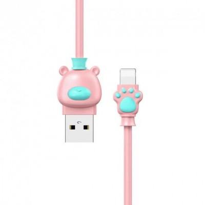 Кабель Lightning Baseus Bear For  (2A 1M) Pink+Blue