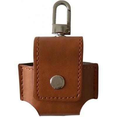 Чохол Leather Case AirPods (Брелок) Brown