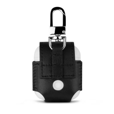 Чохол Leather Case AirPods (Брелок) Black