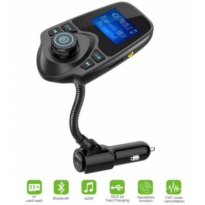 FM Modulator T-10 + USB (5V2,1A) + Bluetooth Black