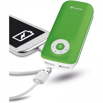 Додатковий акумулятор 4400 mAh CellularLine Free Power Dual Green