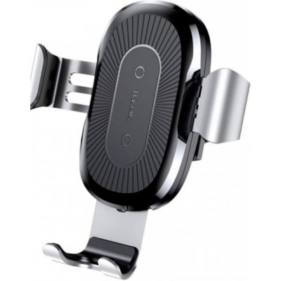 Тримач в авто Baseus Heukji Wireless + Charger WXZT-0S Silver