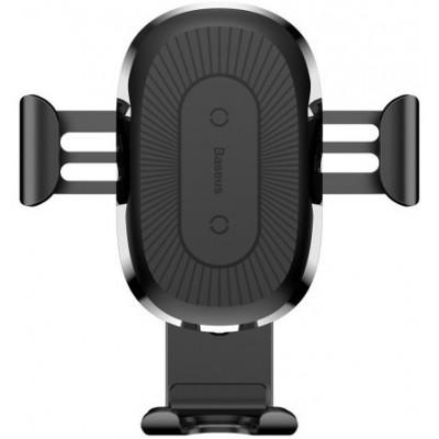 Тримач в авто Baseus Wireless + Charger WXYL-01 Black