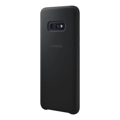 Накладка Silicone Cover для Samsung G970 (S10e) Silky&Soft Touch Black