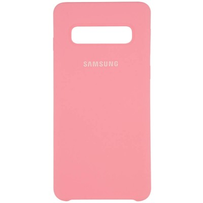 Накладка Silicone Cover для Samsung G970 (S10e) Silky&Soft Touch Light Pink