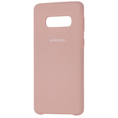 Накладка Silicone Cover для Samsung G973 (S10) Silky&Soft Touch Beige