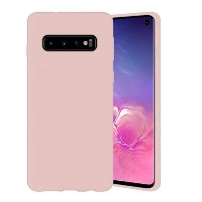 Накладка Silicone Cover для Samsung G973 (S10) Silky&Soft Touch Pink Sand
