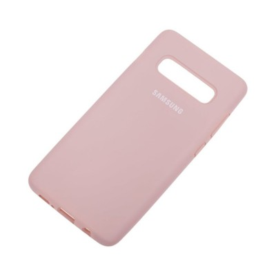 Накладка Silicone Cover для Samsung G975 (S10 Plus) Silky&Soft Touch Beige