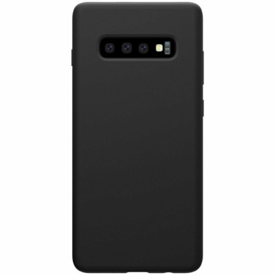Накладка Silicone Cover для Samsung G975 (S10 Plus) Silky&Soft Touch Black