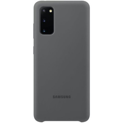 Накладка Silicone Cover для Samsung G975 (S10 Plus) Silky&Soft Touch Light Grey