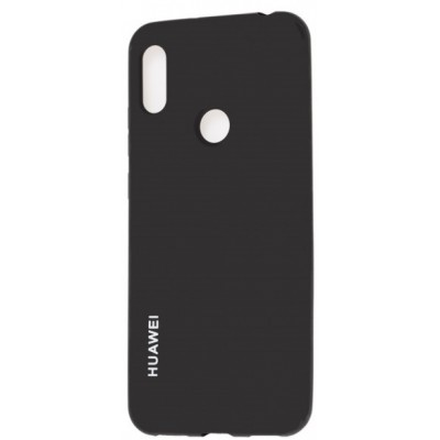 Накладка Silicone Cover для Huawei Y5 2019/Honor 8S Silky&Soft Touch Black