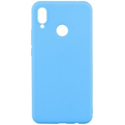 Чохол Silicon Cover Huawei P Smart 2019 Silky&Soft Touch Light Blue