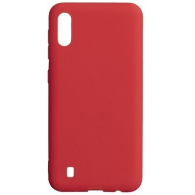 Накладка Silicone Cover для Samsung M105 (M10 2019) Silky&Soft Touch Red