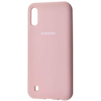 Накладка Silicone Cover для Samsung M105 (M10 2019) Silky&Soft Touch Pink