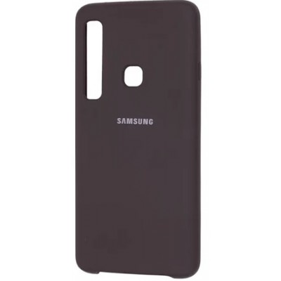 Накладка Silicon Cover  Samsung A920 (A9 2018) Silky&Soft Touch Black