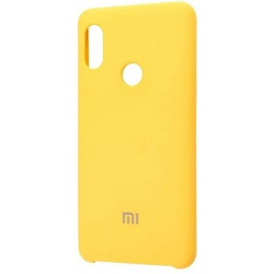 Накладка Silicone Cover для Xiaomi Redmi Note 7 Silky&Soft Touch Yellow
