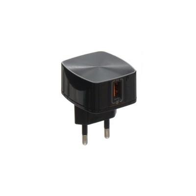 Адаптер мережевий REMAX RP-U114 1xUSB (QC 3.0 5V 3A) Black