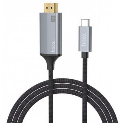Перехідник Hoco UA13 Type-C to HDMI Black (1.8m)