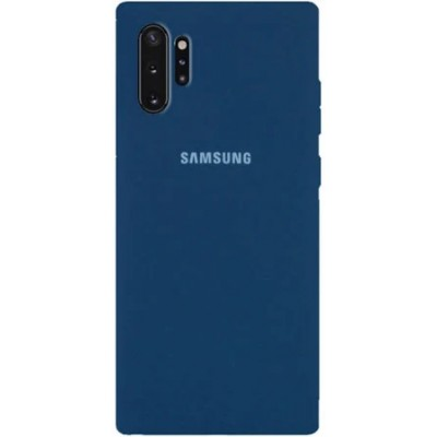 Накладка Silicone Cover для Samsung N975 (Note 10 Plus) Silky&Soft Touch Nevy Blue