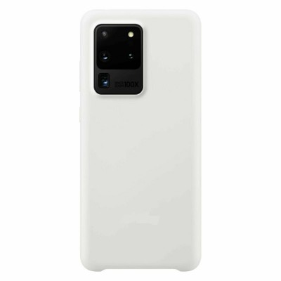 Накладка Silicone Cover для Samsung G988 (S20 Ultra) Silky&Soft Touch Antigue White