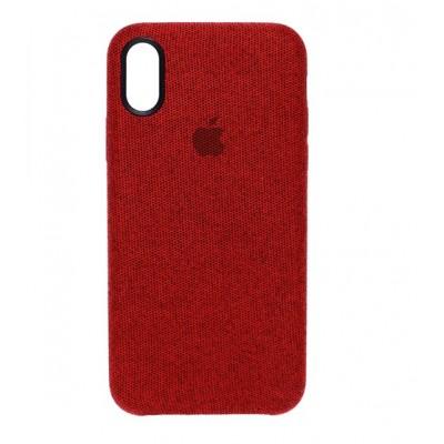 Накладка тканинна для iPhone X/XS Red