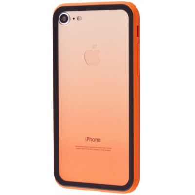 Чохол 'силікон'  iPhone 7 White Gradient Orange