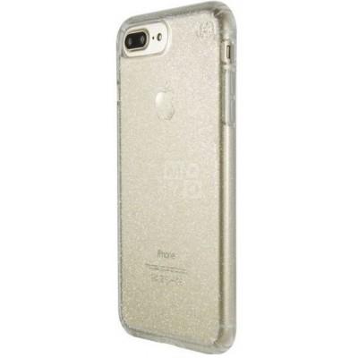"""Чохол  iPhone 7 """"силікон"""" з блискітками Gold"""