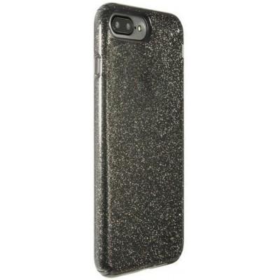"""Чохол  iPhone 7 """"силікон"""" з блискітками Black"""
