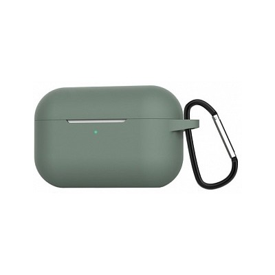 Чохол Silicon Case AirPods Pro (+Карабін) Pine Green