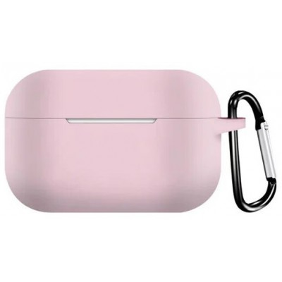 Чохол Silicon Case AirPods Pro (+Карабін) Pink Sand
