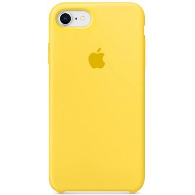 Накладка Silicone Case для iPhone 7/8 Yellow