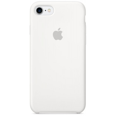 Накладка Silicone Case для iPhone 7/8 White