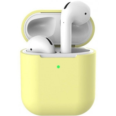 Чохол Silicone Case AirPods 2 Lemon