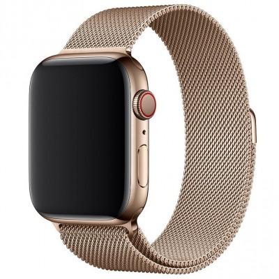 Ремінець Apple Watch Milanese Loop Design 42/44mm Gold