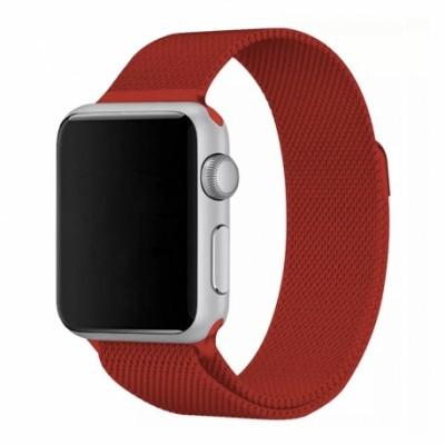Ремінець Apple Watch Milanese Loop Design 42/44mm Red