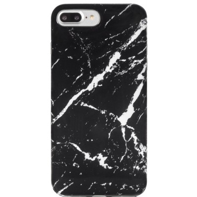 Накладка Мрамор для iPhone 7/8 Plus Black-White