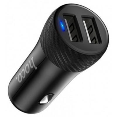 Автомобільний адаптер 2xUSB Hoco Z21 (5V 3.4A) Black