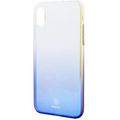 Чохол  Baseus Glaze Case iPhone X Blue
