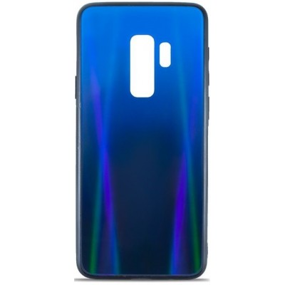 Накладка Glass Case Shine Gradient для Samsung G965 (S9 Plus) Deep Blue