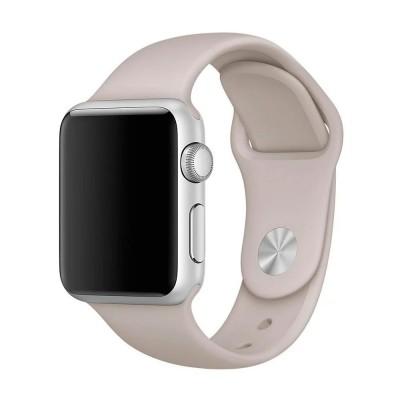 Ремінець Apple Watch силікон 38/40mm. Beige