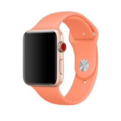 Ремінець Apple Watch силікон 38/40mm. Абрикосовий
