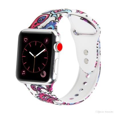 Ремінець Apple Watch силікон 42/44mm. Print