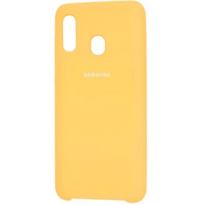 Накладка Silicone Cover для Samsung A305/A205 Silky&Soft Touch Yellow