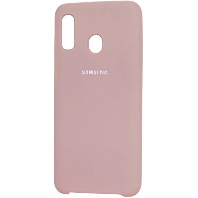 Накладка Silicone Cover для Samsung A305/A205 Silky&Soft Touch Pink Sand