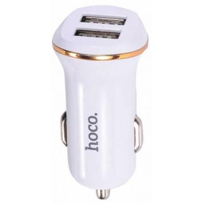 Автомобільний адаптер 2xUSB Hoco Z1 Fast Charging (5V 2,1A) White