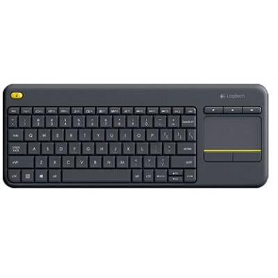 Клавіатура безпровідна Logitech Wireless Touch Keyboard K400 Plus Black