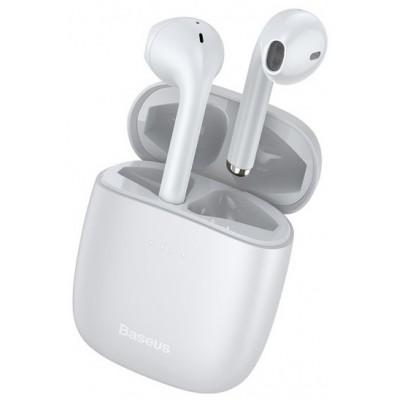 Навушники Bluetooth Baseus Encok W04 Pro TWS White
